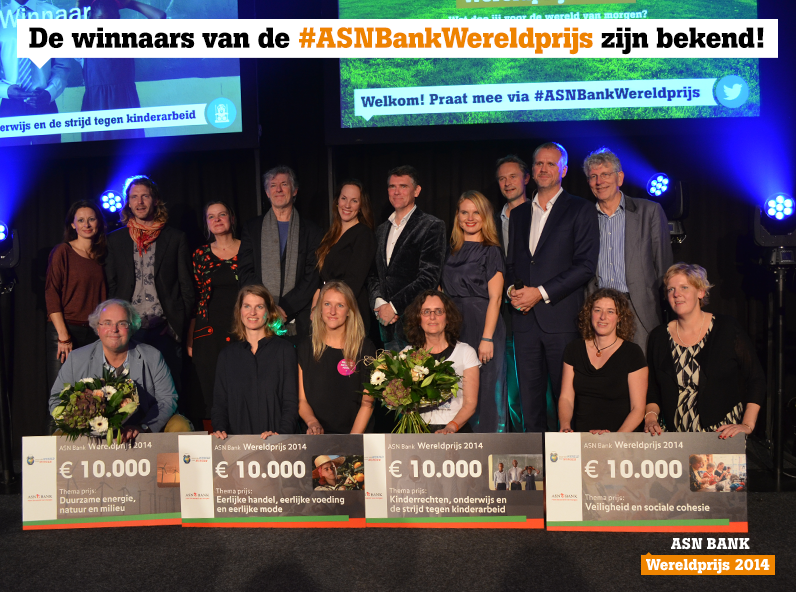 Photo with the winners of the ASN Bank World Price 2014